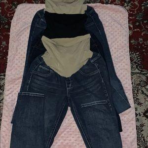 Maternity blue jeans, skinny leg... $25 each